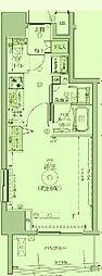 東京都葛飾区亀有の賃貸マンションの間取り