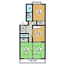 リヴァージュ高浜II[3階]の間取り