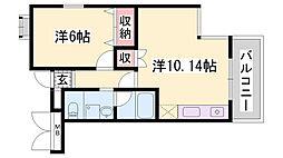 兵庫県神戸市中央区坂口通4丁目の賃貸マンションの間取り