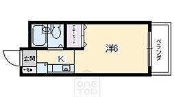 ラピス京都神宮道[1階]の間取り