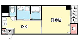 プレサンス神戸メリケンパーク前[202号室]の間取り