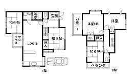 [一戸建] 大阪府和泉市箕形町3丁目 の賃貸【/】の間取り