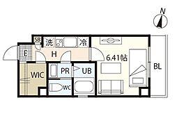 広島電鉄5系統 段原一丁目駅 徒歩18分の賃貸マンション 4階1Kの間取り