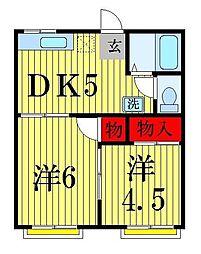 小島コーポ[203号室]の間取り