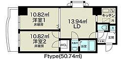 ノルデンタワー新大阪アネックス[6階]の間取り
