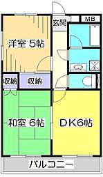 陽光台マンション[1階]の間取り