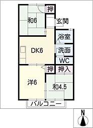 ハイツユウII[2階]の間取り