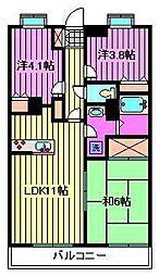 サンヴェール南浦和[5階]の間取り