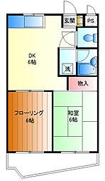ソシュールM[3f号室]の間取り