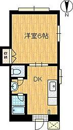 シャトー栗原[2階]の間取り