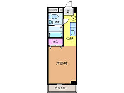 愛媛県松山市樽味2丁目の賃貸マンションの間取り