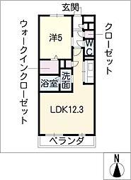 マ・メゾンHIBINO[3階]の間取り