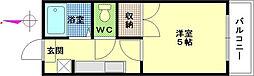 広島県広島市西区楠木町2丁目の賃貸マンションの間取り
