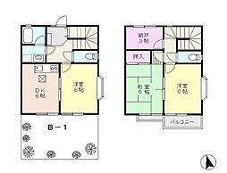 [テラスハウス] 神奈川県横浜市都筑区南山田2丁目 の賃貸【/】の間取り