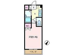 池田マンション[207号室]の間取り