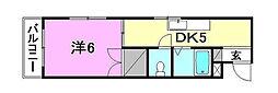 トミーハウス[201 号室号室]の間取り