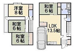 [一戸建] 埼玉県狭山市大字水野 の賃貸【/】の間取り