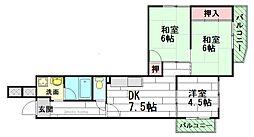 フローラル千里中央2号棟[3階]の間取り