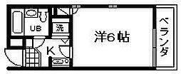 シャルマンフジ久米田五番館[4階]の間取り