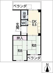 丸星ビル[4階]の間取り