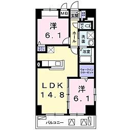 畑田町店舗付マンション[5階]の間取り