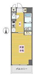 ドゥーエ立売堀[4階]の間取り