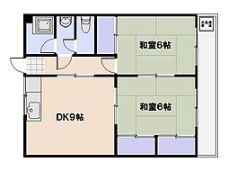三上ビル[2階]の間取り