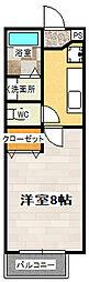 京都府京都市山科区音羽森廻り町の賃貸アパートの間取り