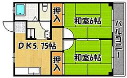 兵庫県明石市東山町の賃貸マンションの間取り