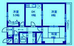 サン・ヒル5[2階]の間取り