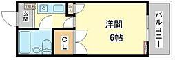 コーポ明日香[1階]の間取り