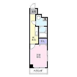 グランコート吉野町[5階]の間取り