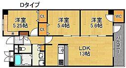 アネックス六兵衛 三番館 7階2SLDKの間取り