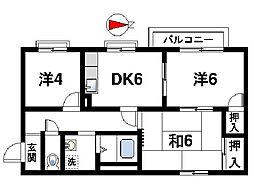 パディ平松[1階]の間取り
