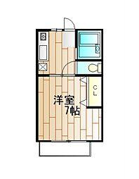 神奈川県横浜市磯子区岡村3丁目の賃貸アパートの間取り