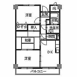 メゾンドールU[4階]の間取り