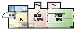 藤和マンション[3階]の間取り