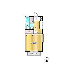 清寿屋カントリーハウス[1階]の間取り