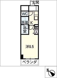 meLiV栄生[4階]の間取り