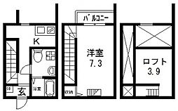 Sileil中川(ソレイユナカガワ)[106号室号室]の間取り