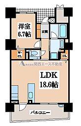 ロイヤルパークス桃坂[5階]の間取り