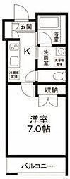 東京都新宿区早稲田町の賃貸マンションの間取り