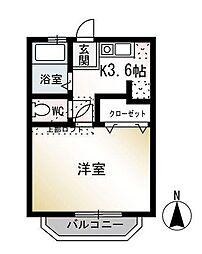 ハイツ茅ヶ崎[1階]の間取り