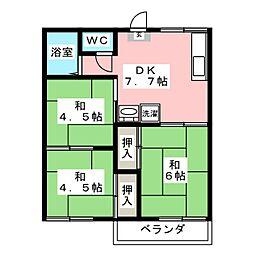 恵ハイツ[2階]の間取り