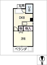 マンション川菱[2階]の間取り