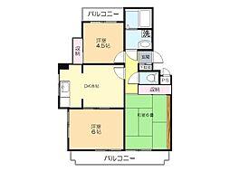 埼玉県所沢市山口の賃貸マンションの間取り