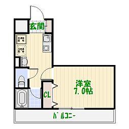LOTUS GARDEN HOSAKA[0403号室]の間取り