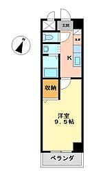 ル・ポミエ[1階]の間取り