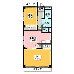 プルミエ小島[4階]の間取り