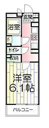 東京都足立区本木東町の賃貸アパートの間取り